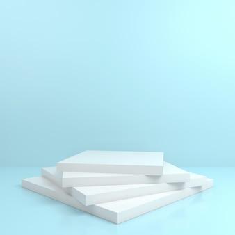 Abstrakte geometrische form pastellfarbe minimales podium bühnenanzeigemodell
