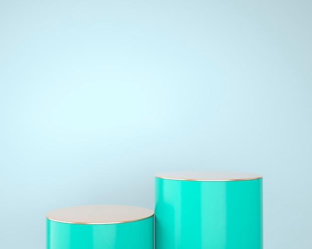 Abstrakte geometrische formen der produktanzeige