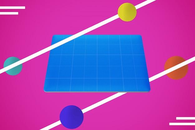 Abstrakte laptop pro haut