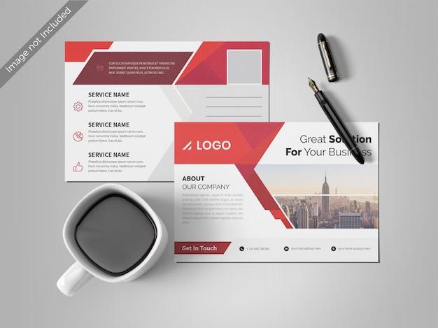 Abstrakte postkarte designvorlage