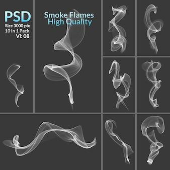 Abstrakte qualität raucht