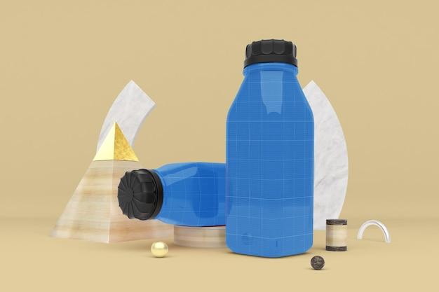Abstrakte saftflasche