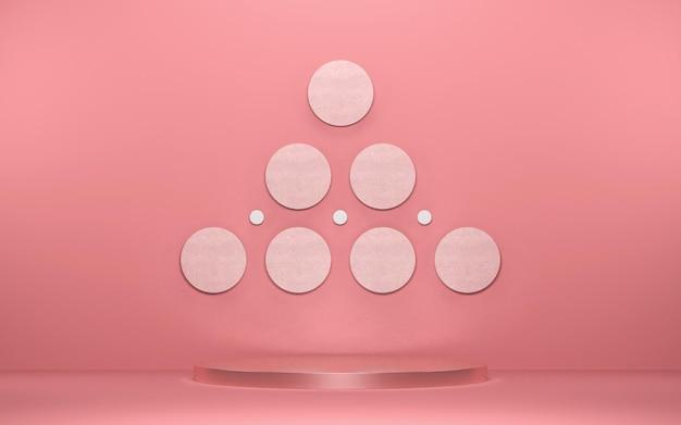 Abstrakte szene für produktanzeige mit geometrischen formen