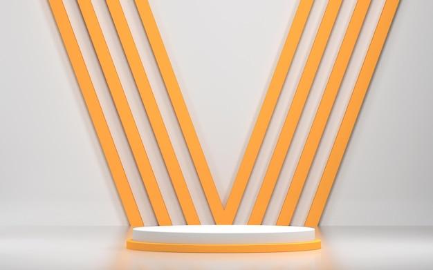 Abstrakte szene und podium für produktanzeige mit geometrischen formen Premium PSD