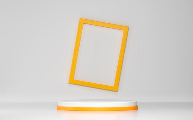 Abstrakte szene und podium für produktanzeige mit geometrischen formen
