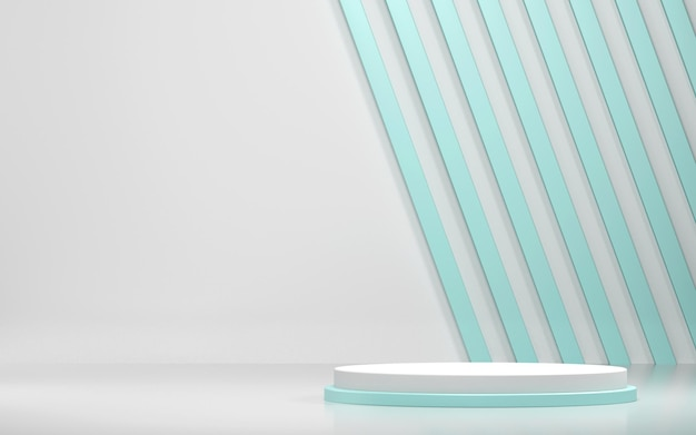 Abstrakte szene und podiumsmodell für produktanzeige mit geometrischen formen