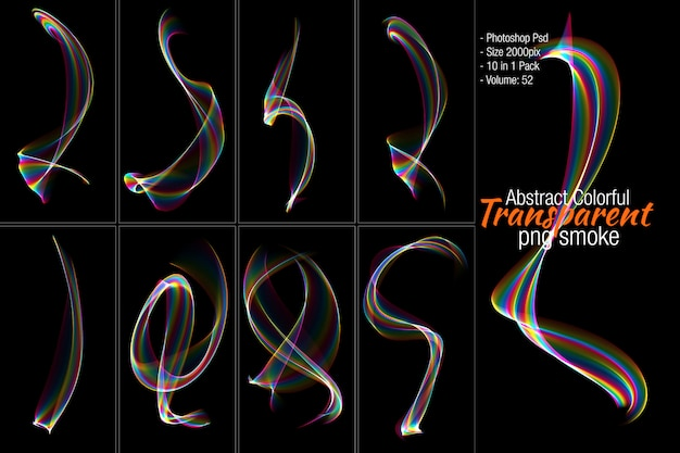 Abstrakte transparente rauchform