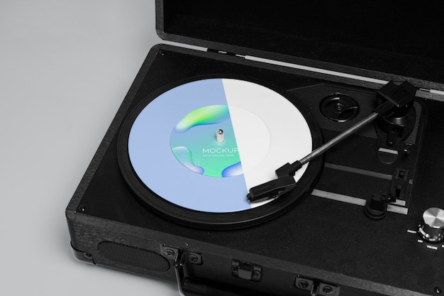 Abstrakte verpackung der retro-modell-vinylscheibe