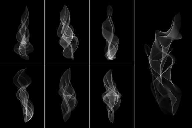 Abstrakte weiße rauch transparente form