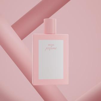 Abstrakter hintergrund des parfümflaschenlogo-modell-modells