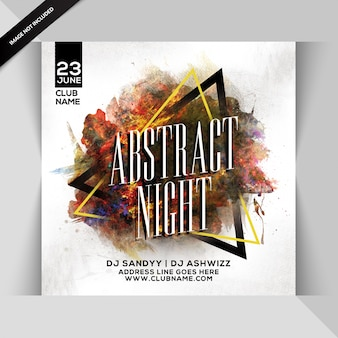 Abstrakter nachtparty flyer
