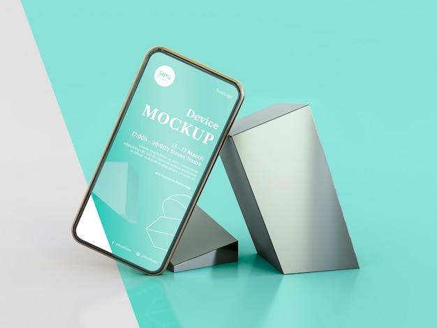 Abstrakter stein und mobil