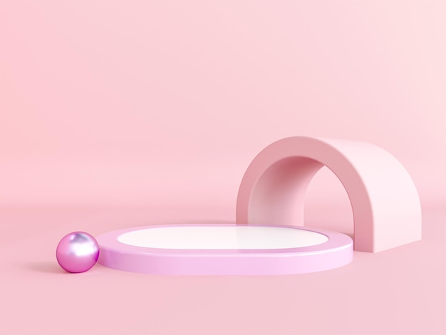 Abstraktes 3d-rendering des podiumdesigns