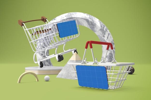 Abstraktes einkaufsmodell