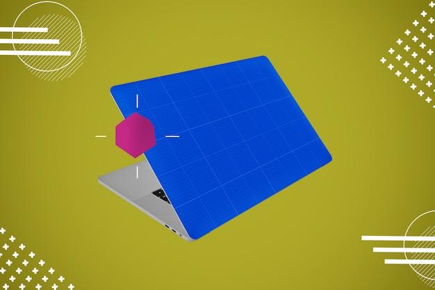 Abstraktes haut-laptop-modell