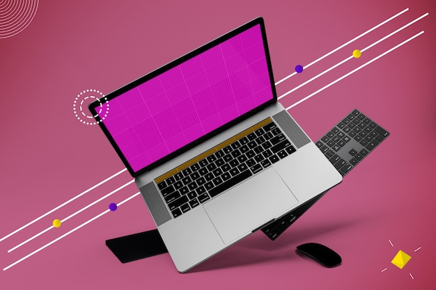 Abstraktes laptop pro mockup v.3
