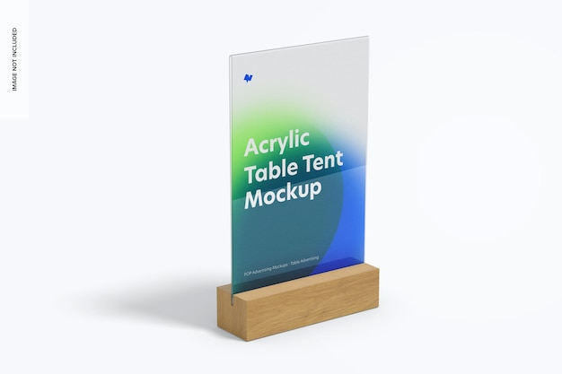 Acryl tischzelt mit holzbasis modell