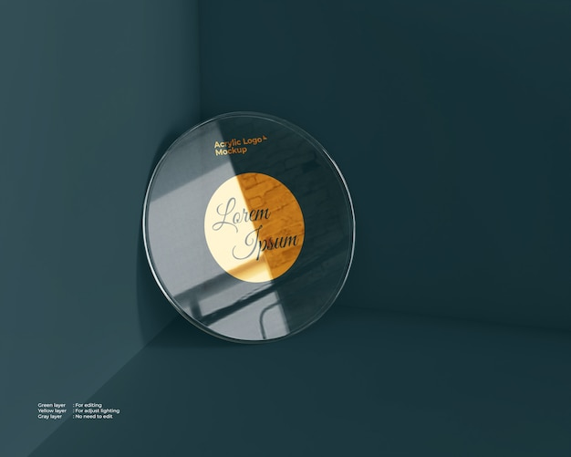 Acrylglas logo logo kreisform