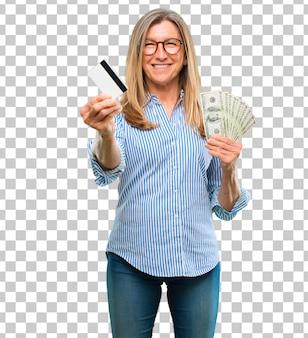 Älterer schönheitslohn, kauf oder geldkonzept