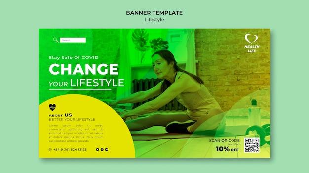 Ändern sie ihre lifestyle-banner-vorlage