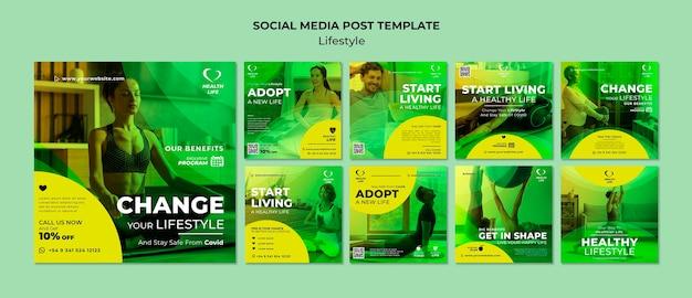 Ändern sie ihre lifestyle-instagram-beiträge Premium PSD