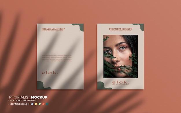 Ästhetische poster-set-mockup-komposition und overlays
