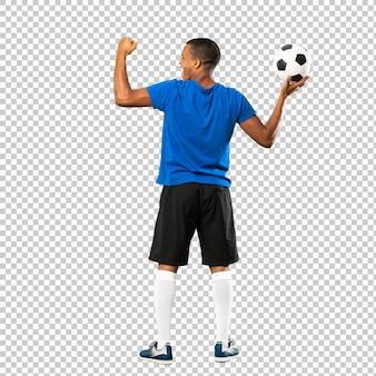 African american football spieler mann