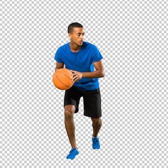Afroamerikanischer basketball-spieler-mann