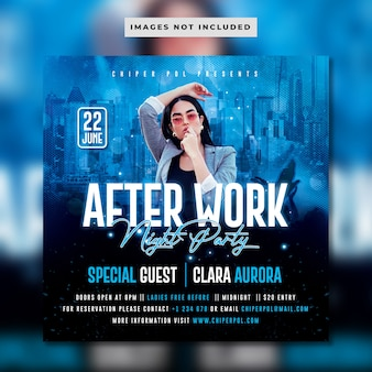After work night party flyer