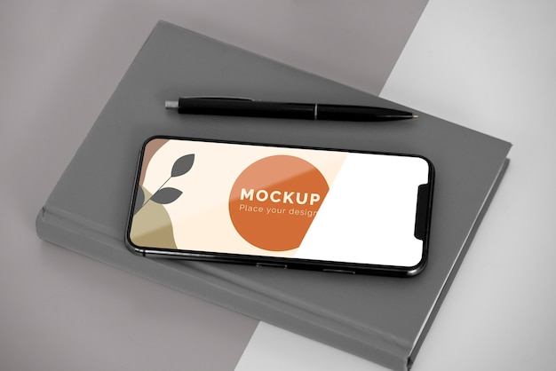 Agenda mit mobiler draufsicht