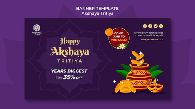 Akshaya tritiya banner vorlage