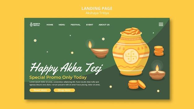 Akshaya tritiya landingpage-vorlage