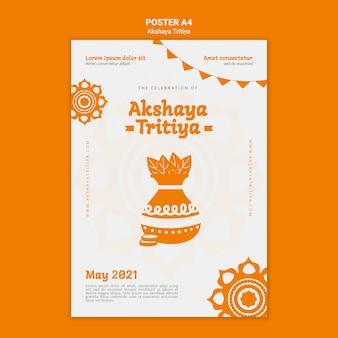 Akshaya tritiya plakatschablone