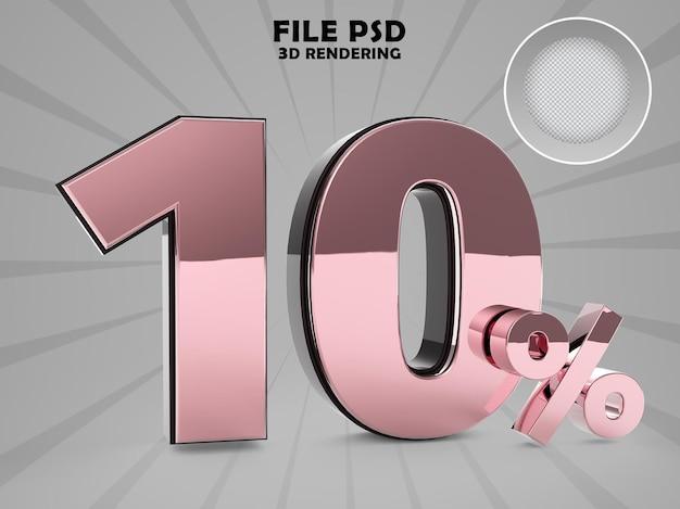 Aktion 10 gold 3d-rendering