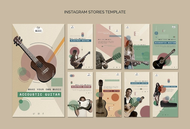Akustikgitarrenunterricht instagram geschichten