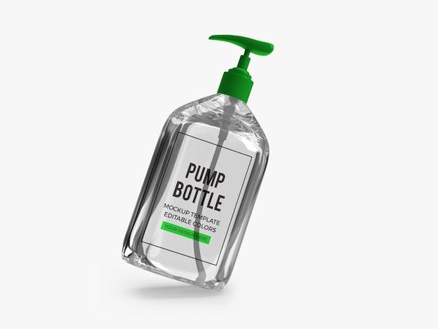Alkohol gel pumpflasche mockup m