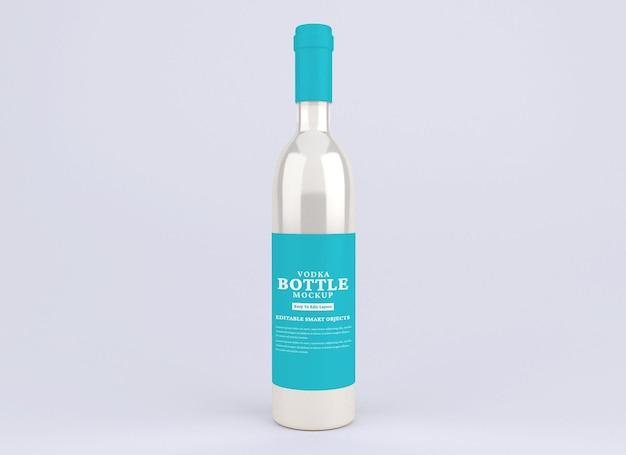 Alkohol wodka flaschenmodell isoliert