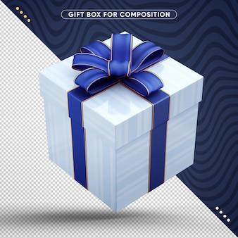 Alles gute zum geburtstag-geschenkbox mit blauem dekorativem band fliegen
