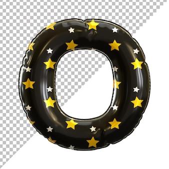Alphabet folienballon buchstabe o schwarz für halloween