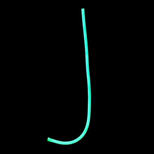 Alphabet-neonart auf schwarzem hintergrund