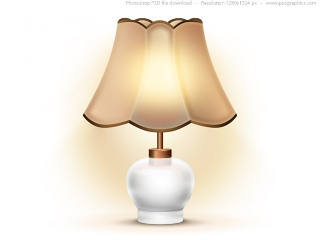 Alte tischlampe icon (psd)