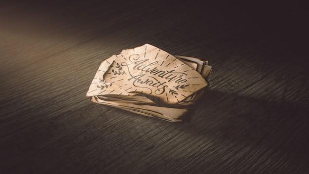 Altes papiermodell für abenteuerkonzept