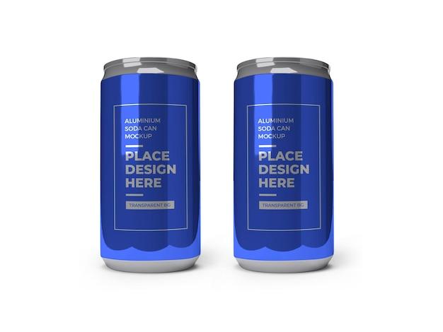 Aluminium soda drink can mockup isoliert