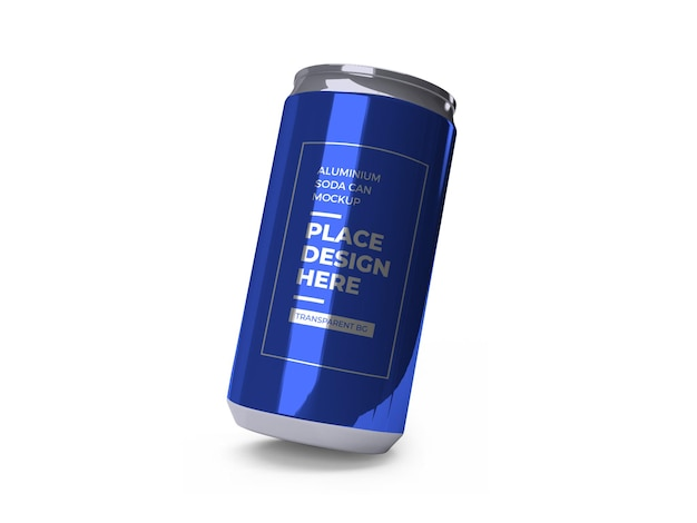 Aluminium soda drink can mockup