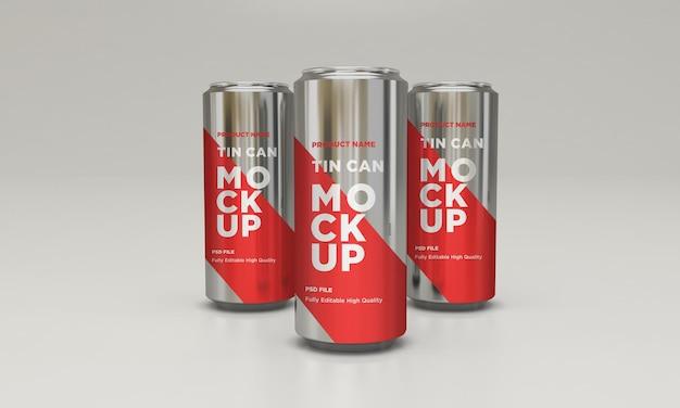 Aluminium soda kann getränk psd mockup trinken