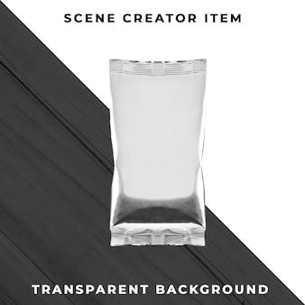 Aluminiumbehälter tasche transparent psd