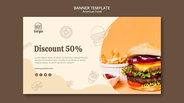 American food banner vorlage