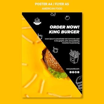American food flyer vorlage design