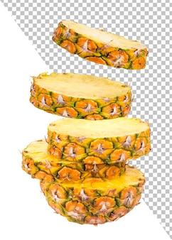 Ananasscheiben isoliert
