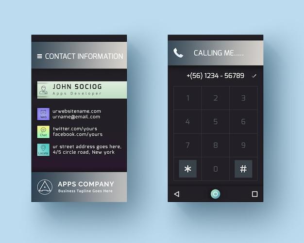 Android-telefonstil-visitenkarte